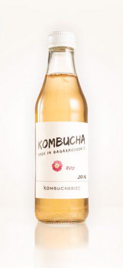 En flaska kombucha Ros från KOMBUCHERIET, Bagarmossen